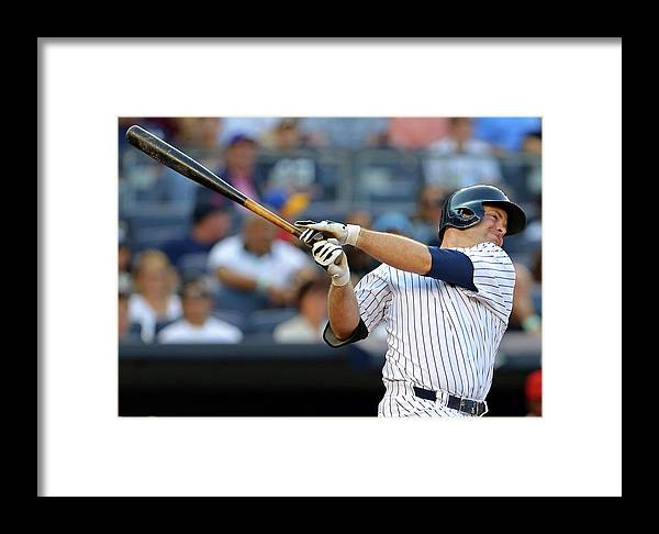 Brian Mccann Framed Print featuring the photograph Los Angeles Angels V New York Yankees by Adam Hunger