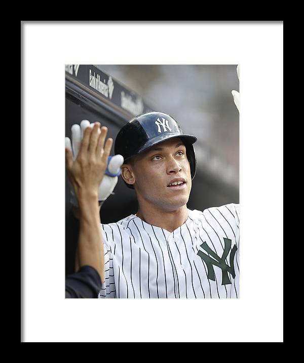 People Framed Print featuring the photograph Los Angeles Angels vs New York Yankees by Paul Bereswill