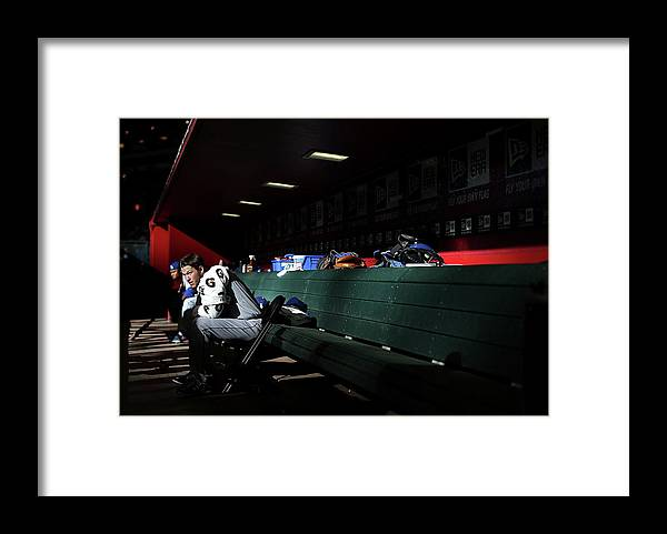 Baseball Pitcher Framed Print featuring the photograph Los Angeles Dodgers V Arizona by Christian Petersen