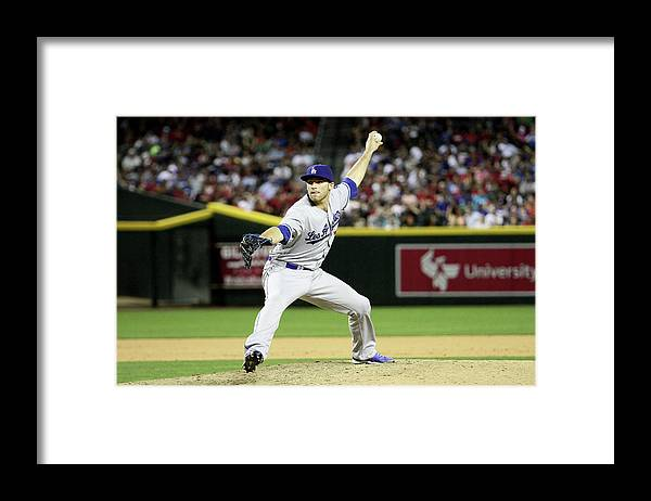 American League Baseball Framed Print featuring the photograph Los Angeles Dodgers V Arizona by Jason Wise