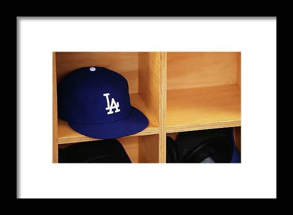 Season Framed Print featuring the photograph Los Angeles Dodgers V Arizona by Mark Nolan