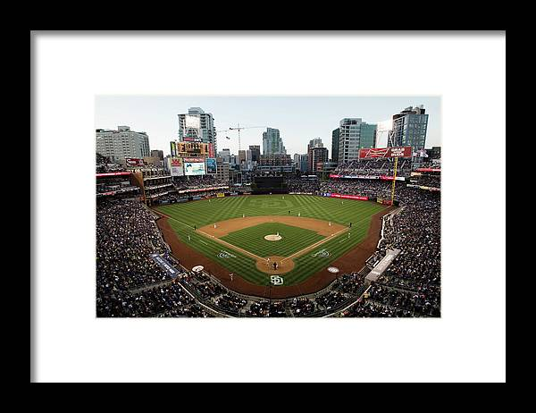 California Framed Print featuring the photograph Los Angeles Dodgers V. San Diego Padres by Rob Leiter