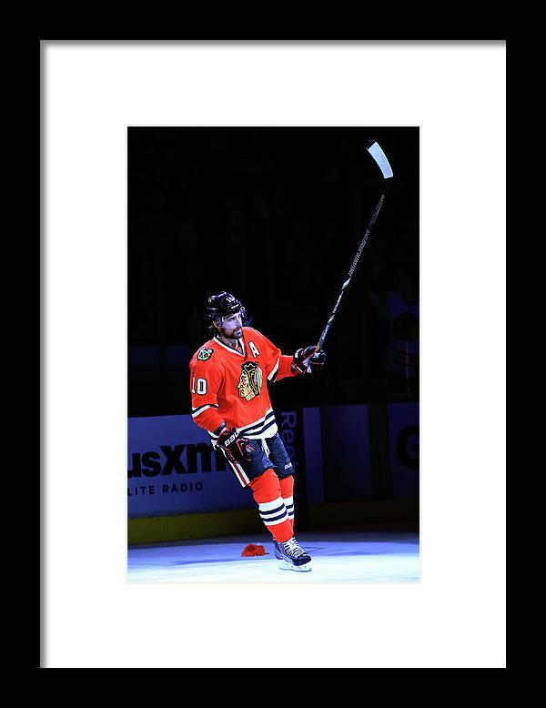 Playoffs Framed Print featuring the photograph Los Angeles Kings V Chicago Blackhawks by Jamie Squire