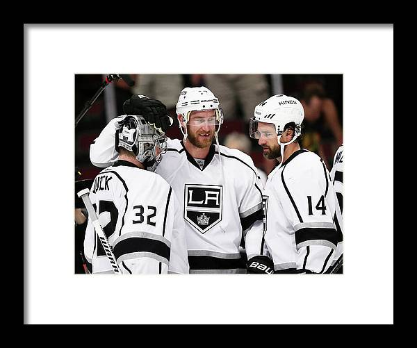 Playoffs Framed Print featuring the photograph Los Angeles Kings V Chicago Blackhawks by Jonathan Daniel