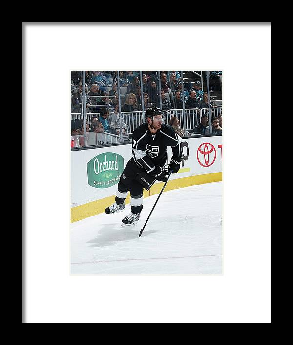 People Framed Print featuring the photograph Los Angeles Kings V San Jose Sharks by Don Smith