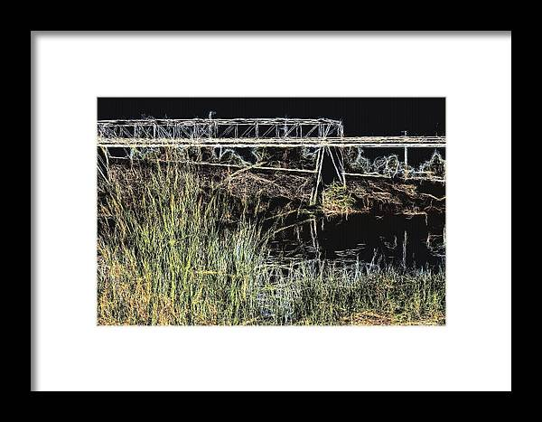 Rivers Framed Print featuring the photograph Los Angeles River / Crayola Effect by Robert Butler