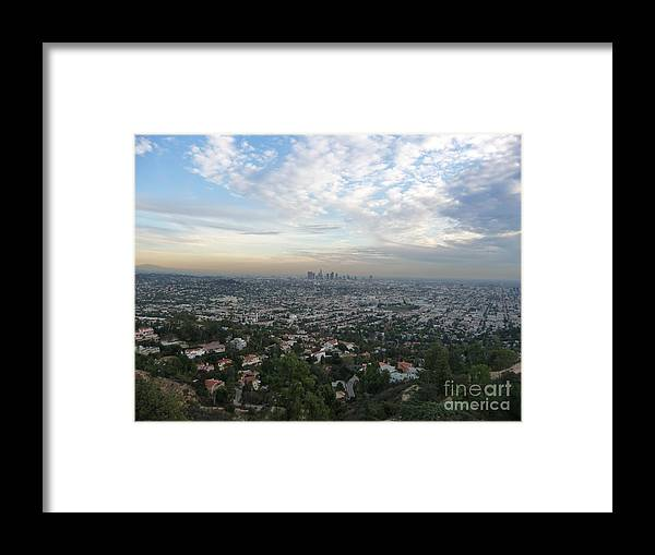 Los Angeles Framed Print featuring the photograph Los Angeles Skyline by Eclectic Captures