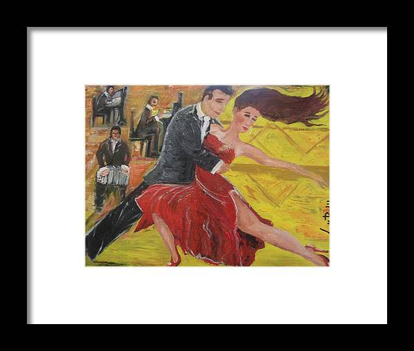 Framed Print featuring the photograph Los Bailarines by Lucy Rubil