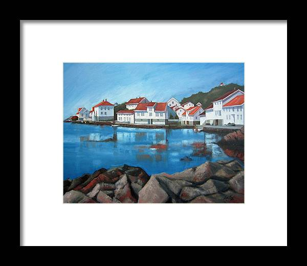 Loshavn Framed Print featuring the painting Loshavn by Janet King