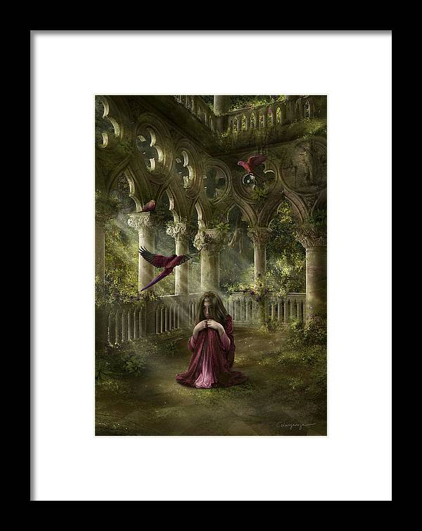 Fantasy Framed Print featuring the digital art Lost by Cassiopeia Art
