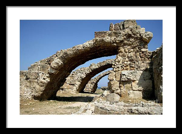 Cyprus Framed Print featuring the photograph Lost City Of Salamis Cyprus by Ros Drinkwater