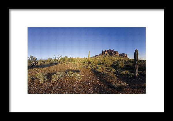 Mountain Framed Print featuring the photograph Lost Dutchman Park Supestition Mountains by Brian Lockett