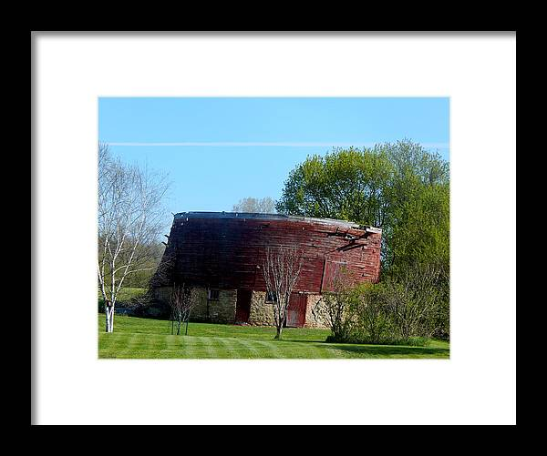 Round Barn Framed Print featuring the photograph Lost History by Wild Thing