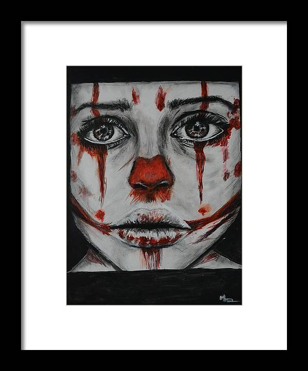 Joker Framed Print featuring the painting Lost Hope by Andreea Kishamera