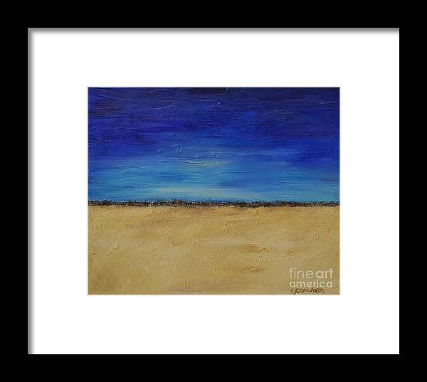 Landscape Framed Print featuring the painting Lost In Thought by Lori Jacobus-Crawford