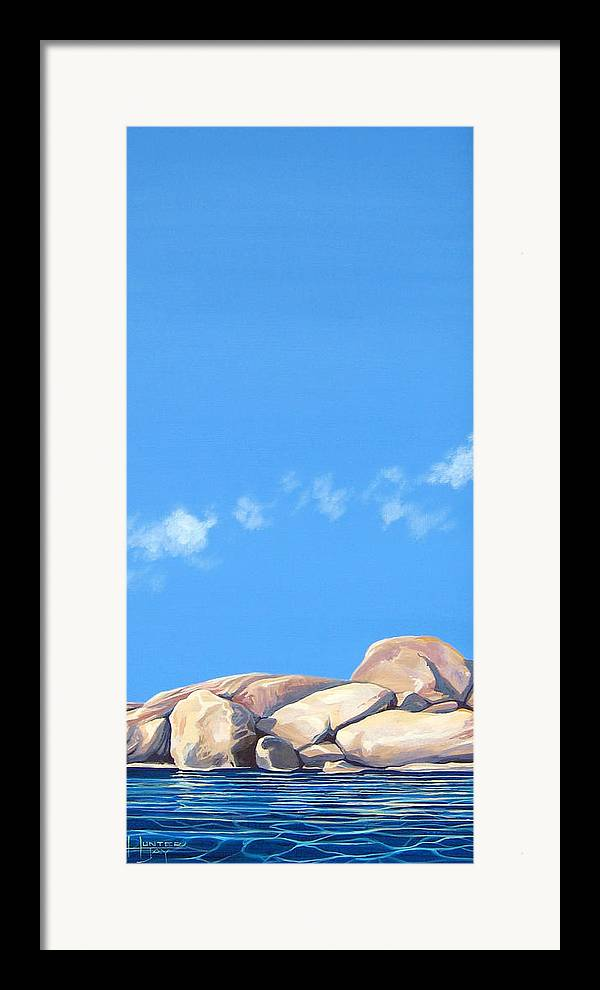 Rocks Framed Print featuring the painting Lost Voices by Hunter Jay