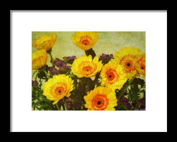 Bouquet Framed Print featuring the photograph Lots of Daisies by Keith Gondron