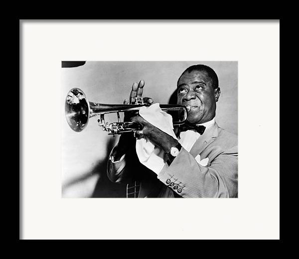 1953 Framed Print featuring the photograph Louis Armstrong (1900-1971) by Granger