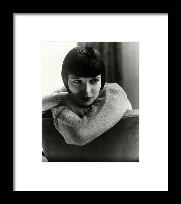 Actress Framed Print featuring the photograph Louise Brooks On A Chair by Edward Steichen