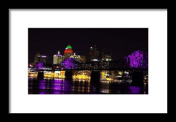 Louisville Skyline Framed Print featuring the photograph Louisville Skyline by Chakravarthy Kotaru