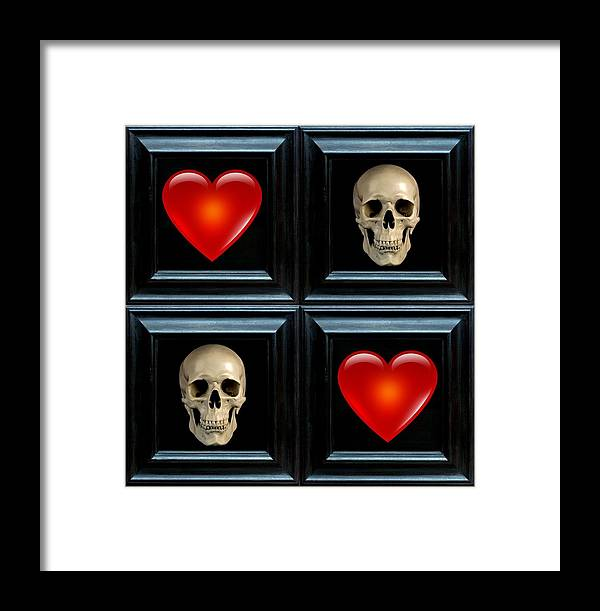 Heart Framed Print featuring the digital art Love And Death Vii by Lee Kendall