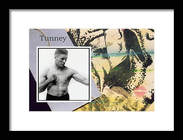 Boxers Framed Print featuring the photograph Love And War Tunney by Mary Ann Leitch