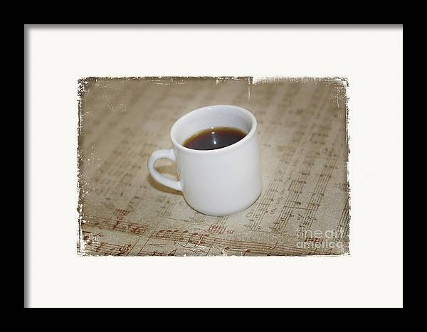 Love Coffee And Music Framed Print featuring the photograph Love Coffee And Music by Nina Prommer