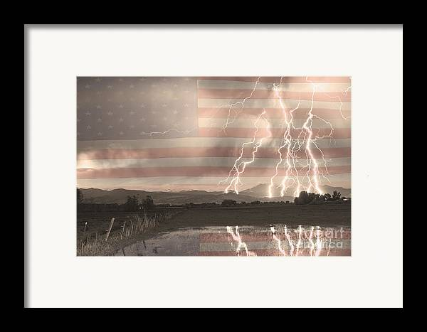 America Framed Print featuring the photograph Love For Country by James BO Insogna