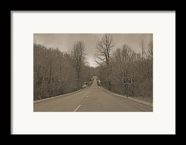 Blue Framed Print featuring the photograph Love Gap Blue Ridge Parkway by Betsy Knapp