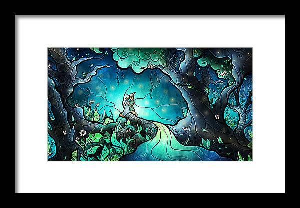 Robin Hood Framed Print featuring the digital art Love Goes On by Mandie Manzano