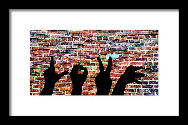 Love Hands Framed Print featuring the photograph Love Hands by Bill Cannon