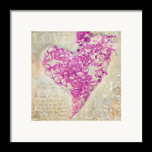 Love Framed Print featuring the photograph Love Is A Gift by Fran Riley
