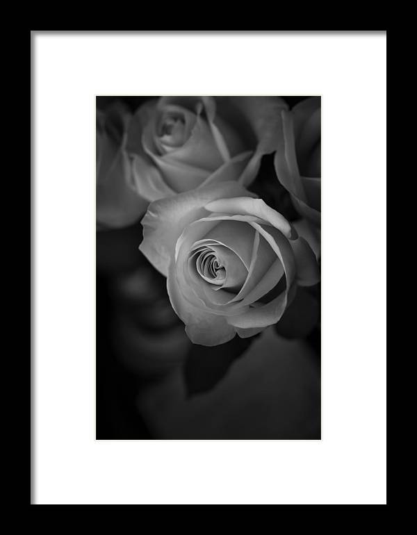 Love Letter Framed Print featuring the photograph Love Letter Bw by Ernie Echols