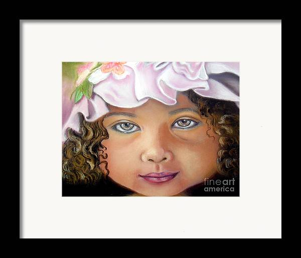 Hat Framed Print featuring the pastel Love My New Hat by Lamarr Kramer