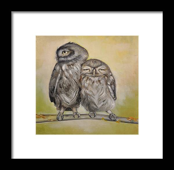 Framed Print featuring the painting Love by Olga Bankston