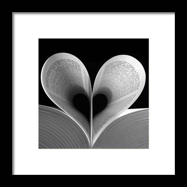 Love Framed Print featuring the photograph Love Reading by Illusorium Illustration