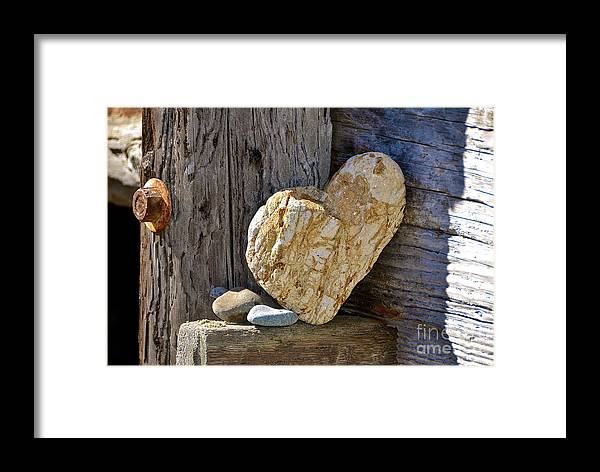 Beach Framed Print featuring the photograph Love Rocks by Amy Fearn