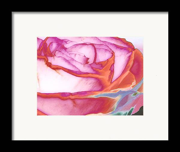 Rose Framed Print featuring the digital art Love Story - Early Days by Wendy J St Christopher