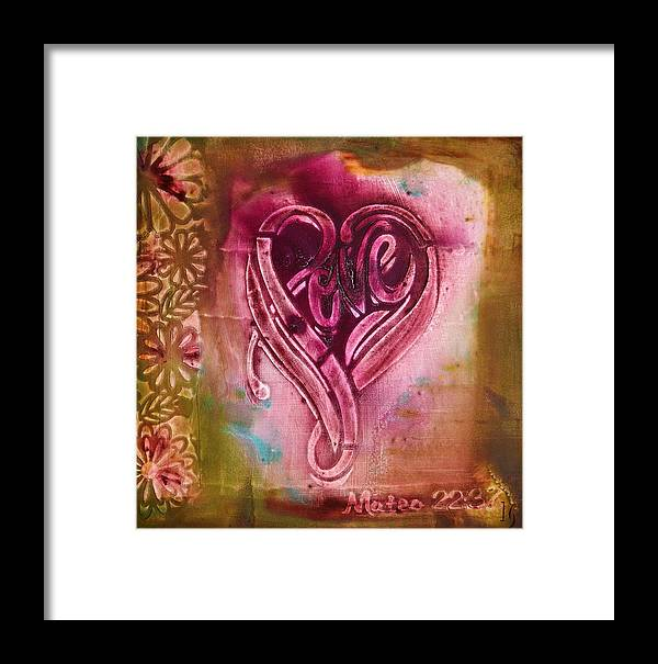 Heart Framed Print featuring the painting Love Your Self by Ivan Guaderrama Art Gallery