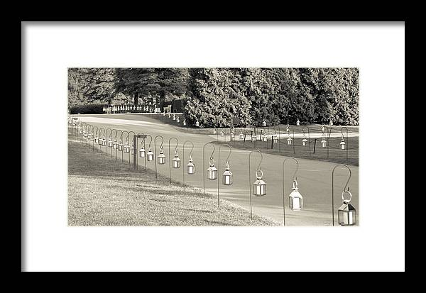 Light Framed Print featuring the mixed media Lovely Lanterns At Longwood by Trish Tritz