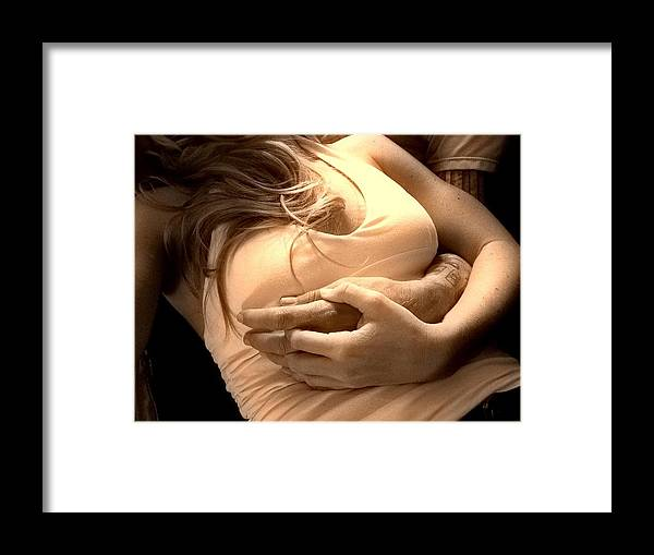 Cuddle Framed Print featuring the photograph Lovers by Trent Thomason