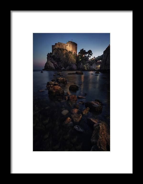 Dubrovnik Framed Print featuring the photograph Lovrijenac by Juan Manuel Fernandez