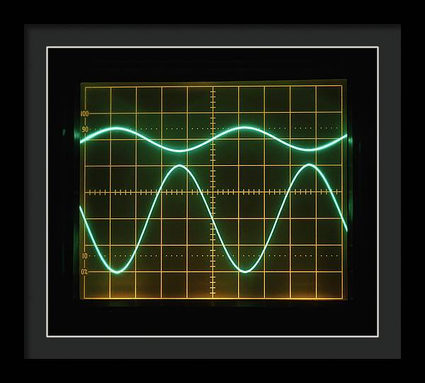 Low Frequency Sine Waves On Oscilloscope by Dorling Kindersley/uig