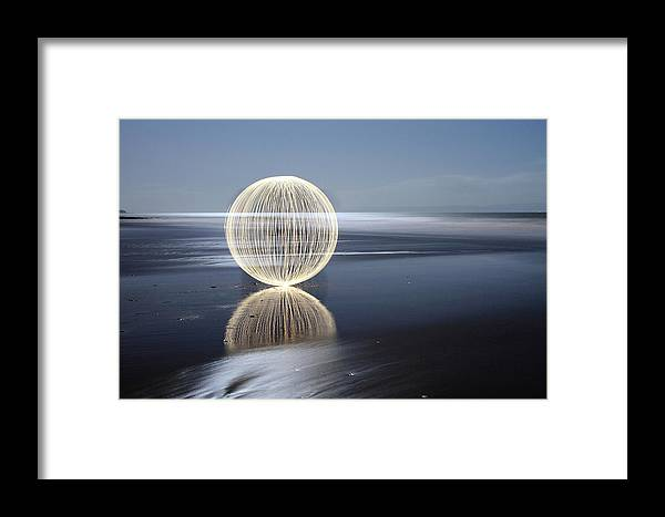 Light Painting Framed Print featuring the photograph Low Tide Reflection by Andrew John Wells