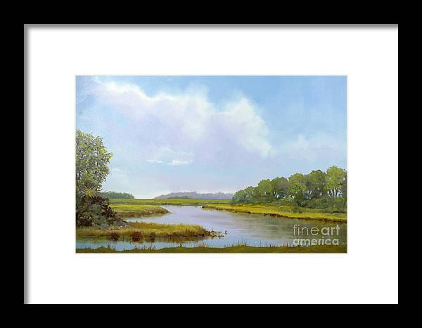 St. Simons Framed Print featuring the painting Lowcountry Afternoon by Glenn Secrest