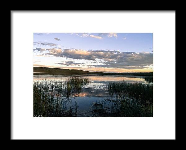 Pond Framed Print featuring the photograph Lower Carter Pond At Dusk by Edward Shaffer