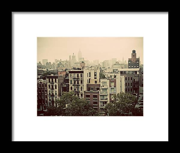 Manhattan Framed Print featuring the photograph Lower East Side by Newyorkcitypics Bring your memories home