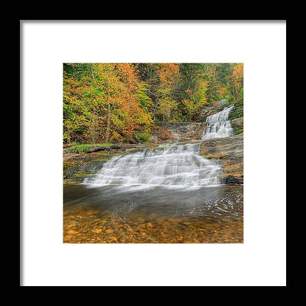 Square Framed Print featuring the photograph Lower Kent Falls Square by Bill Wakeley