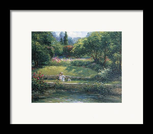 Woman Framed Print featuring the painting Loyal Friendship by Ghambaro