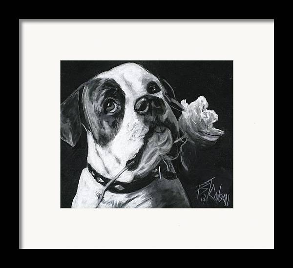 American Bulldog Framed Print featuring the painting Loyal Love by Billie Colson